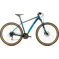 Bicicleta CUBE AIM RACE 2021 albastru/ lime cadru 19'' (L) 29''