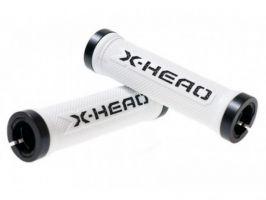 Mansoane BIKEFUN X-HEAD Lock-On alb-negru