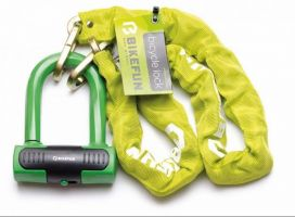 Lacat BIKEFUN ROCK cu lant 8x8x1000 - L6042, verde lime