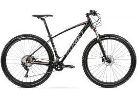 Bicicleta de munte unisex Romet Mustang M5 Negru/Auriu 2021 L (19'')