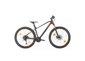 Bicicleta MTB Sprint Apolon 29 2021 Negru Mat/Orange Neon 440 mm
