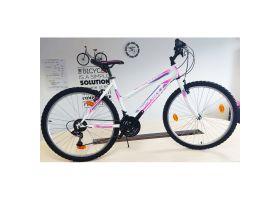 Bicicleta Sprint Active Lady 26 2021, 430mm, alb mat