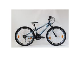 Bicicleta Sprint Casper 24 2021 furca rigida, negru mat/albastru