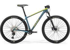 Bicicleta 2021 MERIDA BIG.NINE 3000 silk lime/albastruverzui/albastru L (19'') 29'' in stoc din 30.10.2021