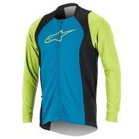 Bluza Alpinestars Drop 2 Full Zip Long Sleeve Jersey bright blue/green XL
