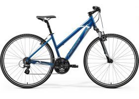 Bicicleta 2021 MERIDA CROSSWAY 10-V dama albastru S (46L) in stoc din 30.09.2021