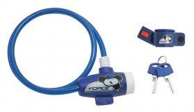Lacat Force pentru copii 80 cm/8 mm albastru