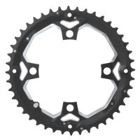 Placa pedalier Force 44 dinti aluminiu neagra