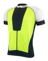 Tricou ciclism Force Air negru/alb/fluo L