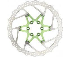 Disc frana Reverse Discrotor 180mm aluminiu/otel verde deschis