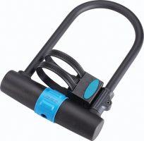 Lacat BBB U-Vault 250x170 mm negru/albastru