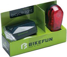 Lumini bicicleta  BIKEFUN SQUARE set F+S 4+3 LED