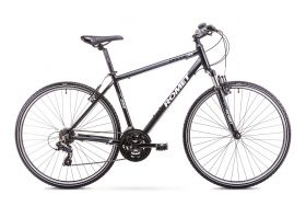 Bicicleta trekking/oras  Romet ORKAN M Negru/Gri marime L