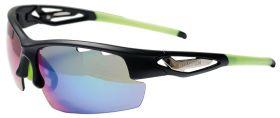 Ochelari BIKEFUN FLY +2 perechi de lentile extra, negru/verde