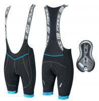 Pantaloni scurti cu bazon si bretele Force F FAME Negru/Albastru 3XL