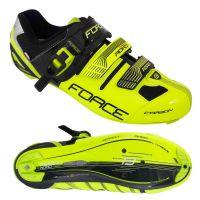 Pantofi Force Road Carbon verde fluo/negru 43