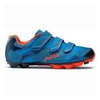 Pantofi ciclism NORTHWAVE MTB SCORPIUS 2 3S albastru/portocaliu, marime 42