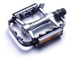 Pedale BIKEFUN FORESTER-II MTB aluminiu, argintiu-negru - M21/BF