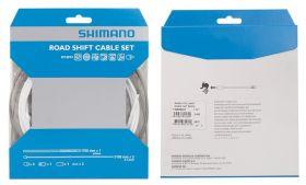 Set cabluri si camasi schimbator Shimano DA79 sosea alb
