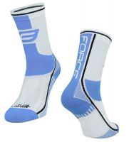 Sosete Force Long Plus albastru deschis/alb L-XL