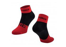 Sosete Force One, rosu/negru, S-M (36-41)