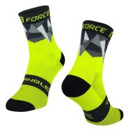 Sosete Force Triangle fluo/negru L-XL