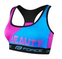 Sutien sport Force Beauty albastru/roz M