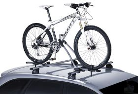 Sistem transport biciclete THULE FREERIDE 532 pe acoperis, cu suport cadru (incl. adaptor T-track)