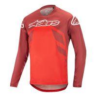 Tricou Alpinestars Racer V2 LS Burgundy/Red/White S
