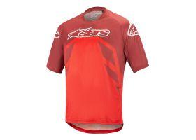 Tricou Alpinestars Racer V2 SS Burgundy/Red/White XL