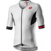 Tricou cu maneca scurta pentru triathlon Castelli Free Speed 2 Race, Alb/Negru L